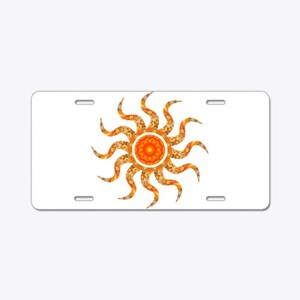 Wild Sun Jewel Aluminum License Plate