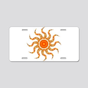 Wild Sun Jewel Aluminum License Plate