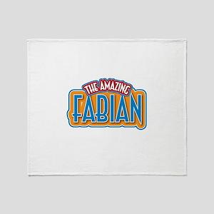 The Amazing Fabian Throw Blanket