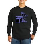 Kokopelli Pool Shark Long Sleeve Dark T-Shirt