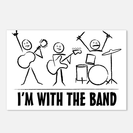 Stick man band Postcards (Package of 8)