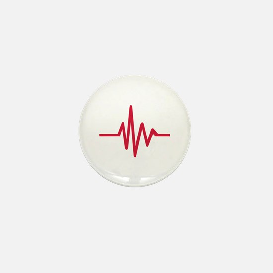 Frequency pulse heartbeat Mini Button
