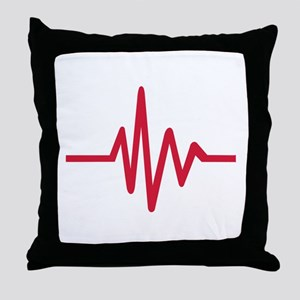 Frequency pulse heartbeat Throw Pillow