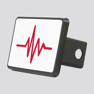 Frequency pulse heartbeat Rectangular Hitch Cover
