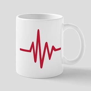 Frequency pulse heartbeat Mug