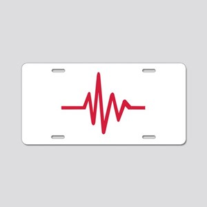Frequency pulse heartbeat Aluminum License Plate