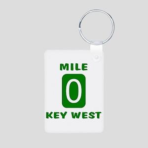 Mile 0 Key West Florida Aluminum Photo Keychain