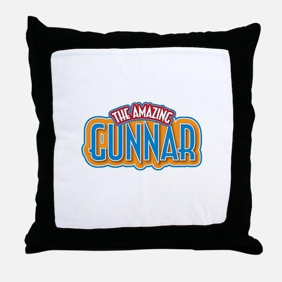 The Amazing Gunnar Throw Pillow