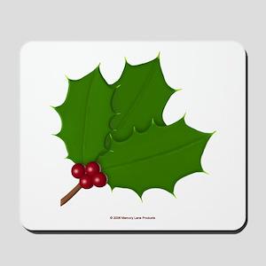 Christmas Holly-days Mousepad