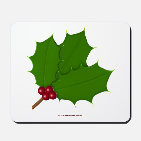 Christmas Holly-days Mousepad