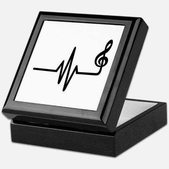 Frequency music note Keepsake Box