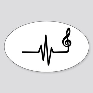 Frequency music note Sticker (Oval)