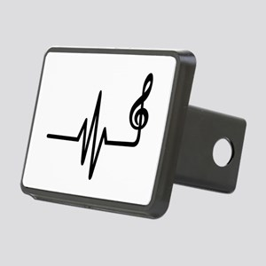 Frequency music note Rectangular Hitch Cover