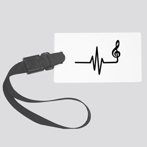 Frequency music note Large Luggage Tag