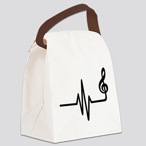 Frequency music note Canvas Lunch Bag