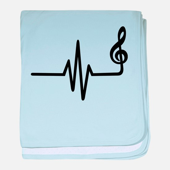 Frequency music note baby blanket