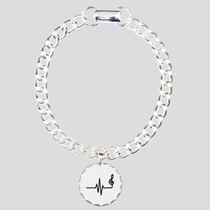 Frequency music note Charm Bracelet, One Charm