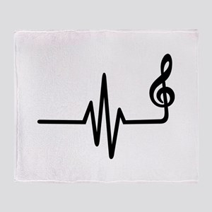 Frequency music note Throw Blanket