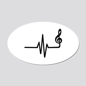 Frequency music note 20x12 Oval Wall Decal