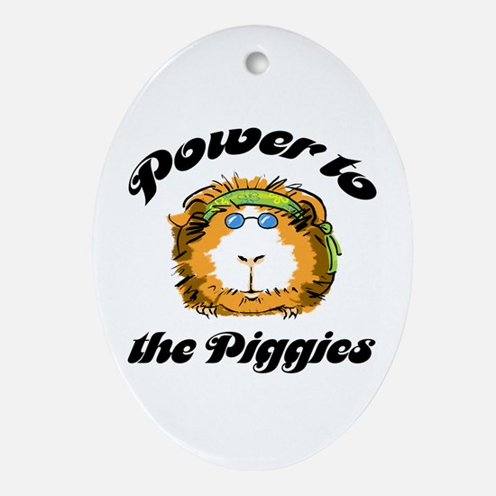 Power to the Piggies Oval Ornament