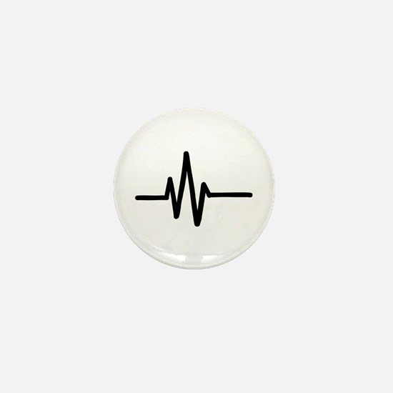 Frequency pulse beat Mini Button