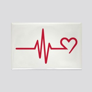 Frequency heart love Rectangle Magnet