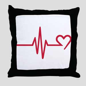 Frequency heart love Throw Pillow