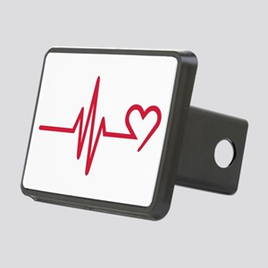 Frequency heart love Rectangular Hitch Cover