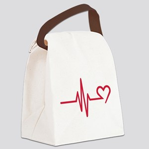 Frequency heart love Canvas Lunch Bag