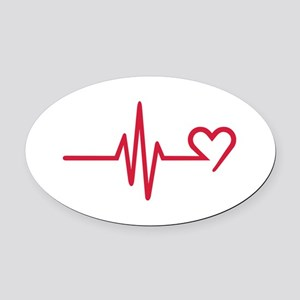 Frequency heart love Oval Car Magnet