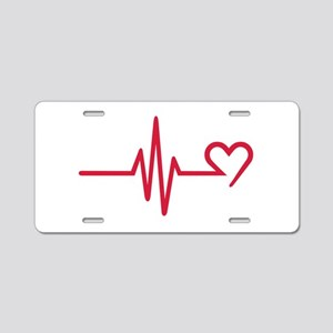 Frequency heart love Aluminum License Plate