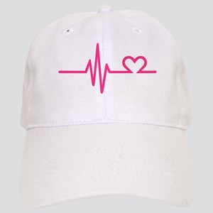 Frequency pink heart Cap