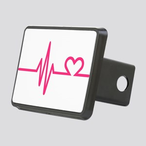 Frequency pink heart Rectangular Hitch Cover