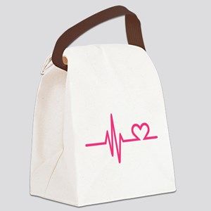 Frequency pink heart Canvas Lunch Bag