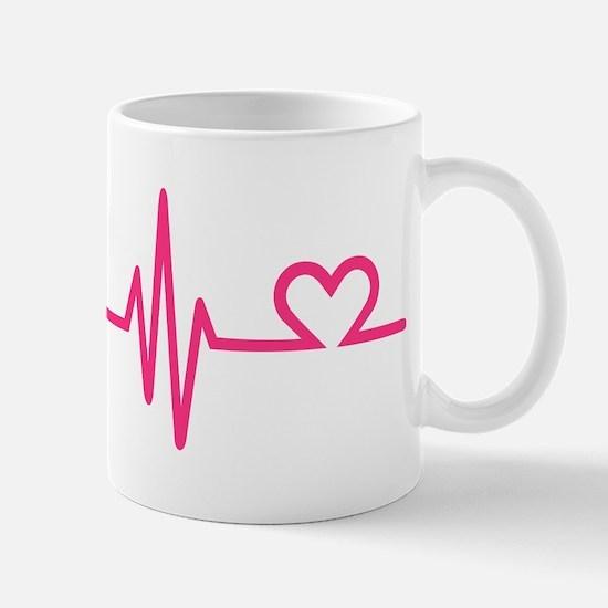 Frequency pink heart Mug