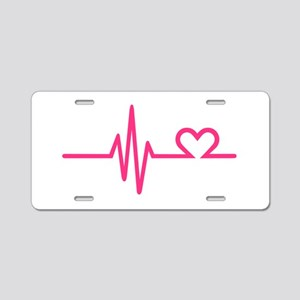Frequency pink heart Aluminum License Plate