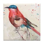 Souther Carmine Bee-Eater Bird Tile Coaster