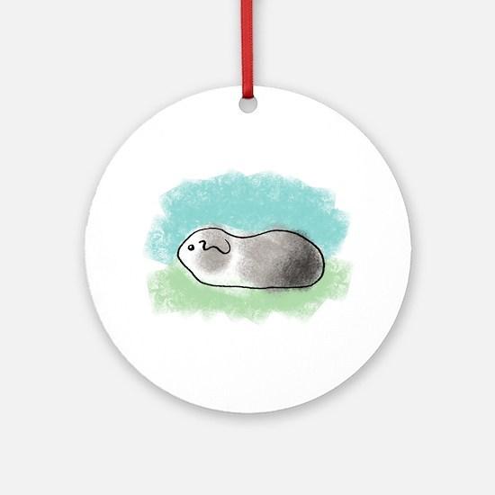 Simple Piggie (grey) Ornament (Round)