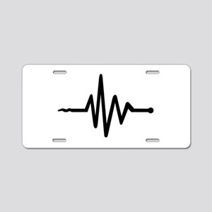 Frequency music Aluminum License Plate