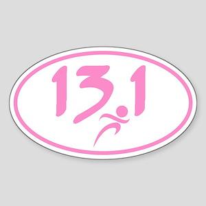 Pink 13.1 marathon Sticker