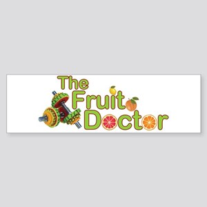 The Fruit Doctor black Bumper Sticker
