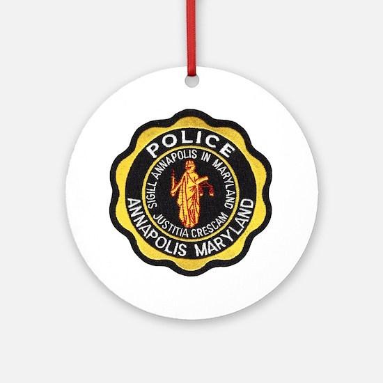 Annapolis Police Ornament (Round)