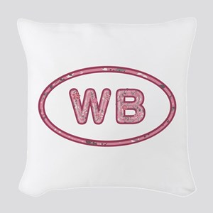 WB Pink Woven Throw Pillow