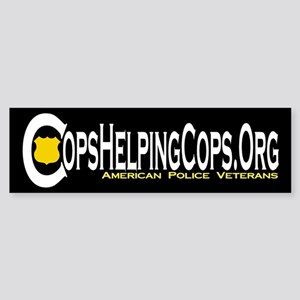 Cops Helping Cops Bumper Sticker