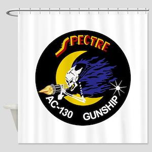 AC-130 Spectre Shower Curtain