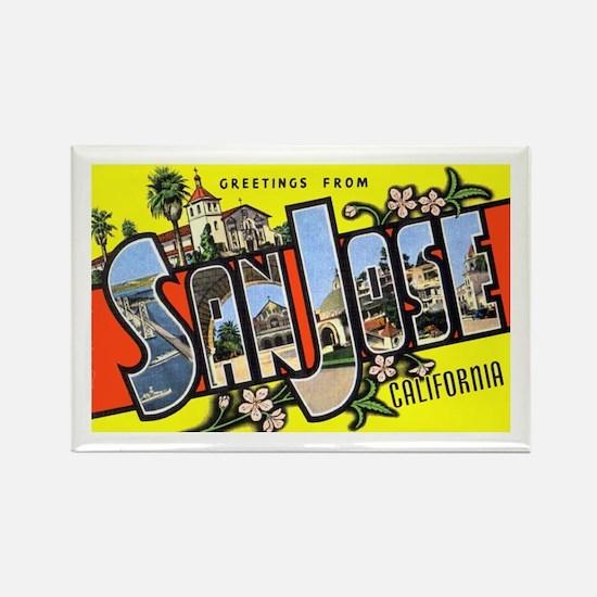 San Jose California Greetings Rectangle Magnet