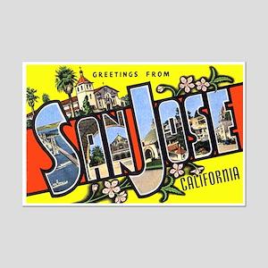 San Jose California Greetings Mini Poster Print