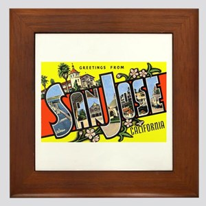 San Jose California Greetings Framed Tile