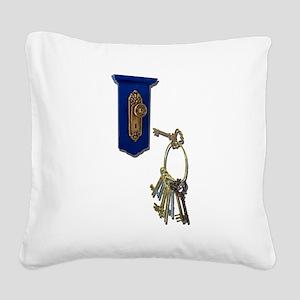 UnlockingTheDoor100711 Square Canvas Pillow