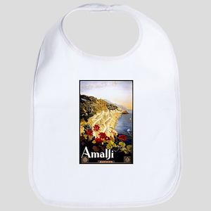 Antique Italy Amalfi Coast Travel Poster Bib